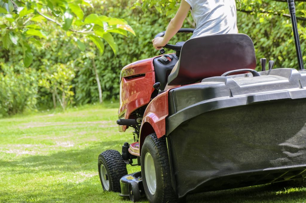 lawn aeration mowing